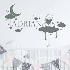 Bear Cloud Wall Decal Nursery Name Stickers For Kids Room Love Wall Sticker Girls Decorative Vinyl Babies Room T200411 Wall Stickers Aliexpress