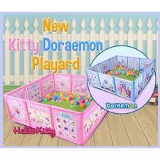 Hello Kitty Doraemon Playpen Playground Tent Play Yard Fence Shopee Philippines