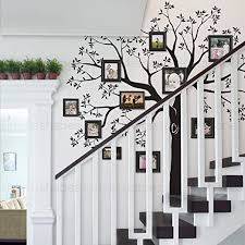 Amazon Com Simple Shapes Staircase Family Tree Wall Decal Tree Wall Decal Black Small Size 92w X 88h Inch Home Kitchen