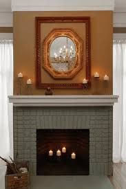 brick fireplace paint and makeover