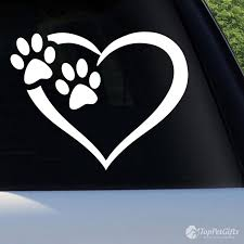 Heart Paws Vinyl Decal Top Pet Gifts