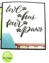 Amazon Com Love Has Four Paws Kitchen Dining