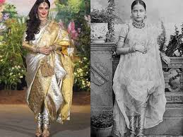the saree has got a makeover by indian