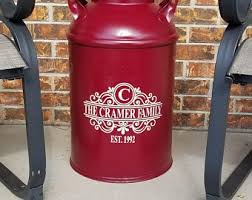 Milk Can Decals Etsy