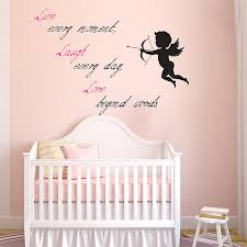 Live Laugh Love Cupid Vinyl Wall Art Decal
