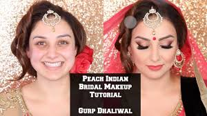 peach indian bridal makeup tutorial