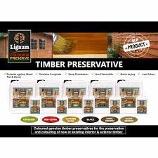 Coloured Wood Preserver Lignum 5l Wood Preservative