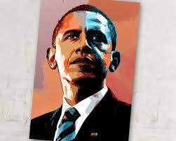 Barack Obama Us President Art Barack Obama Poster Etsy