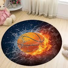 Basketball Print Round Carpets For Living Room Deer Cat Turtle Animal Carpet Kids Room Play Mat Computer Chair Mat Alfombra Rug Aliexpress