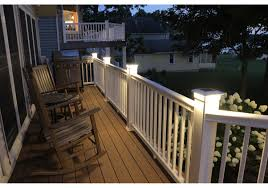 5 1 2 In X 5 1 2 In Solar Post Cap Light For Azek Trex Wood White 3 Led Colors Buy Online For 94 95 At Ultrabrighttech