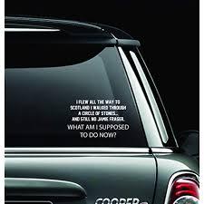 Quote Decals For Car Amazon Com