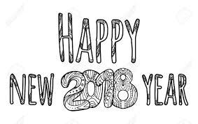 Congratulatory Inscription Happy New Year Vector Element With