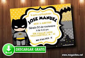 Invitacion Batman Para Imprimir Gratis Mega Idea