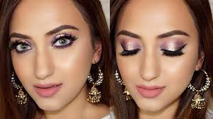 enement party makeup look purple