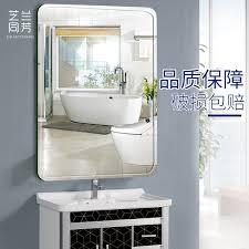 frameless paste bathroom mirror