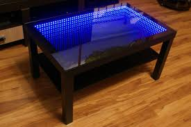 black table led 3d coffee table