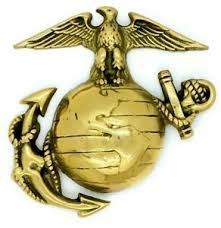 gold plated us marine corps emblem