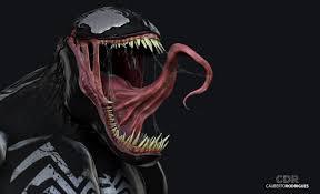ilration anime 3d venom head
