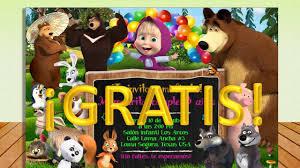 Invitacion Imprimible Masha Y El Oso Gratis Todo Gratis Para