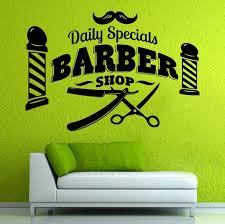 Barber Shop Wall Vinyl Decal Barber Shop Wall Vinyl Sticker Sign Barber Shop Design Decor Wish