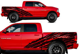 Dodge Ram 1500 2500 2009 2018 5 7 Bed Vinyl Decal Kit Halfside Torn Factory Crafts