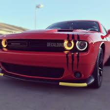 Large Headlight Scratch Kit Xl Decaldino Monster Scar Claw Car Slash Camaro Ebay