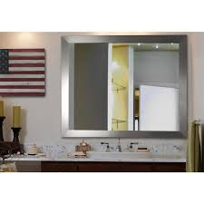 wide non beveled vanity wall mirror