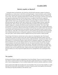 Patriot Loyalist Or Neutral Kyrene School District Pages 1 3 Text Version Anyflip