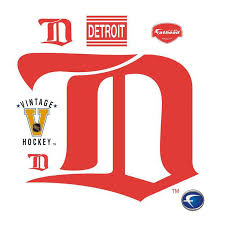 Detroit Red Wings Vintage Logo Giant Officially Licensed Nhl Removable Wall Decal By Fathead
