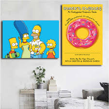 Home Decor The Simpsons Canvas Wall Art The Simpsons Family