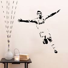 Footballer Soccer Wall Sticker Vinyl Art Decals Sport Poster Vintage Wall Stickers For Kids Room Home Decor Wall Sticks Wall Tattoos From Rita0615 7 33 Dhgate Com