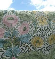 56 CM X 53 cm Sanderson vintage FQ Green Myrtle Morris floral white cotton  e392 - £2.35   PicClick UK