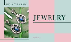 jewelry business card templates design