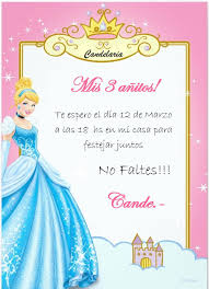 Invitacion Cenicienta Fiesta De Cenicienta Cumpleanos