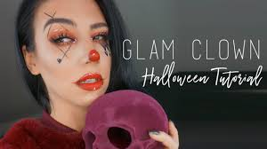 glam clown tutorial easy halloween