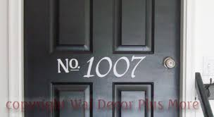 House Number Glossy Custom Vinyl Decal Sticker Great For Doors 19x6