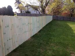 Pro Fence Railing Residential Fencing 6 Foot Wooden Fence Installation In Chippewa Pa