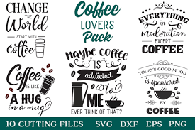 coffee lovers pack coffee quotes limited promotion by svg
