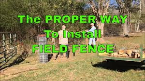 The Proper Way To Install Field Fence With Some Baby Goat Footage 63 Youtube