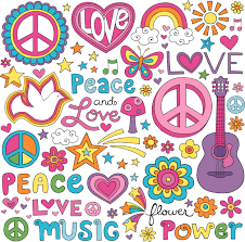 Peace Love Music Doodle Colorful Customized Wall Decal Custom Vinyl Wall Art Personalized Name Baby Girls Boys Kids Bedroom Wall Decal Room Decor Wall Stickers Decoration Size 15x30 Inch