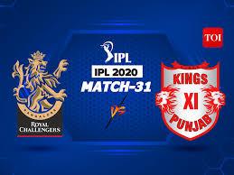 IPL 2020 stay rating, RCB vs KXIP ...