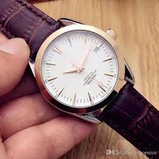casual men watches luxury leather strap