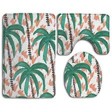 coconut tree paint bathroom rug sets