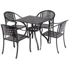 5 piece milano black outdoor bistro set