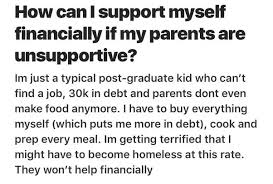 how to support myself financially if my parents are unsupportive