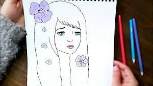 رسم سهل تعليم رسم انمي بنت سهل بطريقة سهلة وبسيطة رسم بنات