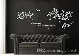 Black White Coffee Birds On The Tree Branch Wall Decal Art Sticker Living Room Bedroom Wall Quote Mural Poster Wall Stickers Cheap Wall Stickers Children From Magicforwall 5 2 Dhgate Com