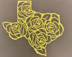 Yellow Rose Decals Etsy