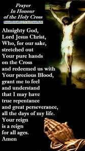 Prayer In Honour of the Holy Cross - Blessed Mother Mary and Lord ...