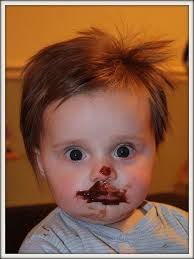 i didnt eat the chocolate cake' 'y is there chocolate on ur face ...